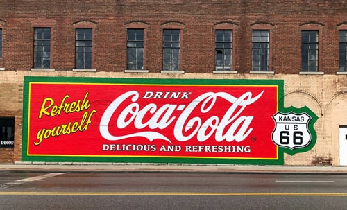 New Coca-Cola mural added to prominent building in Galena