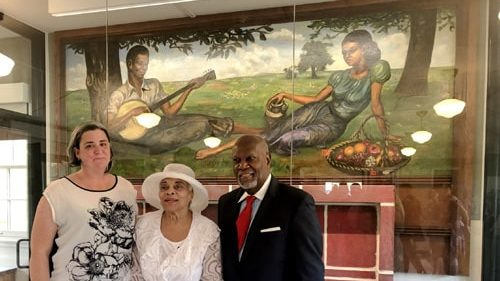 Former Black Officers Club, a mural at Fort Leonard Wood are restored