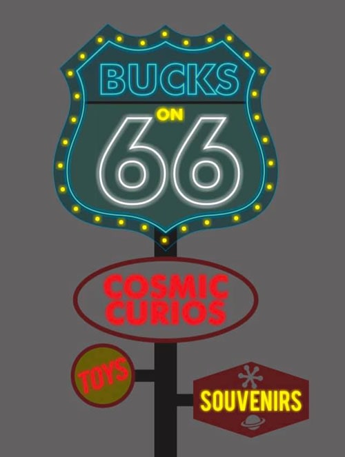 Buck Atoms Cosmic Curios on Route 66 in Tulsa raising money for a new neon sign