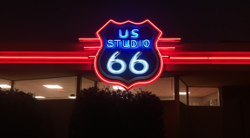 Fourth new or restored neon sign lighted via Route 66 grant in Tulsa