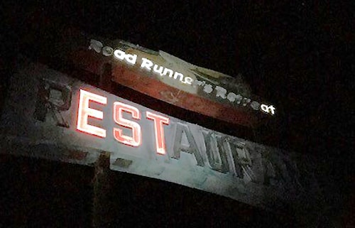 Road Runner's Retreat mulls full sign restoration after brief and partial relighting
