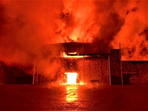 Fire destroys community center in Shamrock
