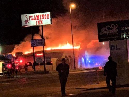 Fire damages restaurant near Flamingo Inn in Elk City