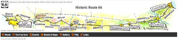 Route 66 Navigation principals take over ownership of Historic Route  66 website