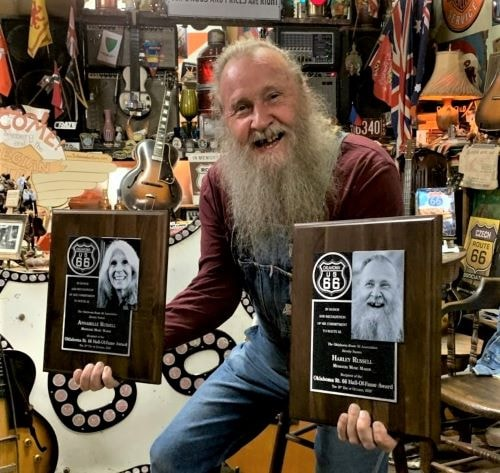 Harley and Annabelle Russell inducted into Oklahoma Route 66 Hall of Fame