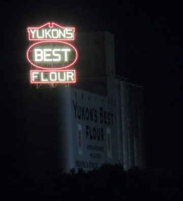 An enormous project might replace or obscure Yukon's Best Flour sign and mill