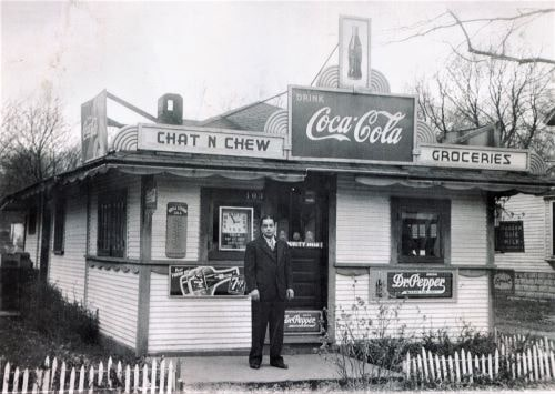 Chat 'n Chew near Route 66 in Normal catered to black customers in Jim Crow era