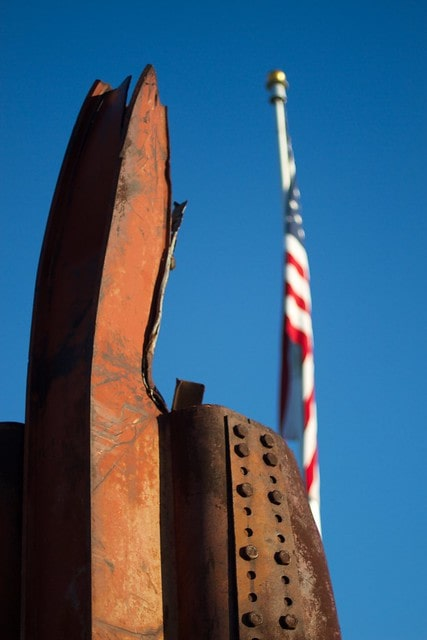 9/11 memorial garden in Winslow features beams from the fallen Twin Towers