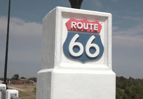 New U.S. 81 Rock Island Bridge that pays tribute to Route 66 opens in El Reno