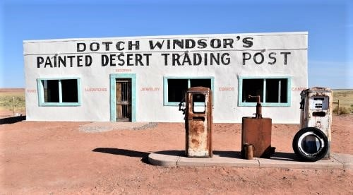 Volunteers complete final stage of work on Painted Desert Trading Post building