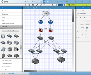 Use Gliffy To Create Free Visio Network Diagrams