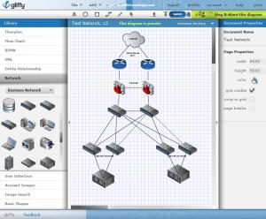 Use Gliffy to Create Free Visio Network Diagrams