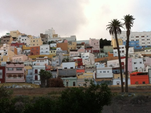 Las Palmas old town climbing the hills