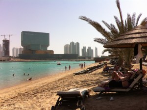 The beach of Hotel Le Meridien, Abu Dhabi
