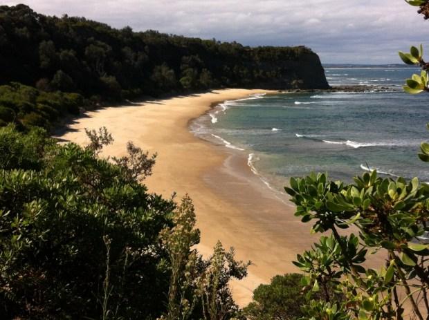 A beach on Bunurong coastal drive