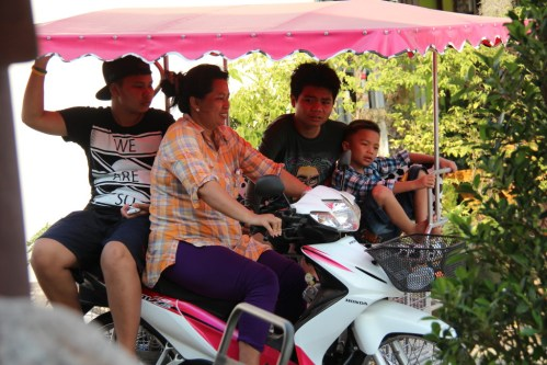 A family on wheels