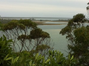 A view of Lakes Entrance, Australia South East Coast