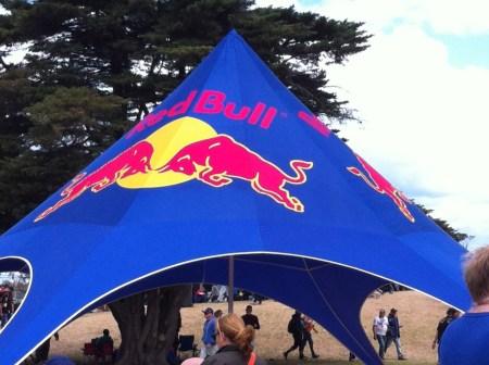 Australian Grand Prix Red Bull shelter