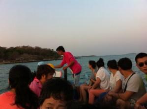 Evening boat from Ban Phe to Ko Samet
