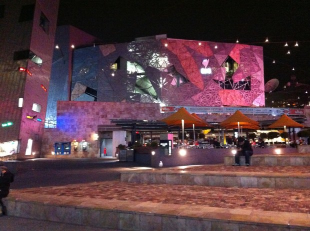Federation Square in evening light, Melbourne