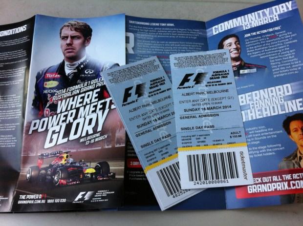 Australian Grand Prix tickets