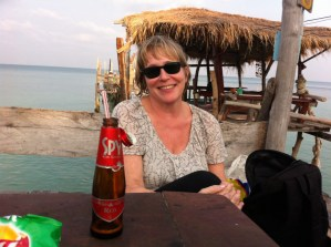After ordering a glass of red wine, Ko Samet, Thailand