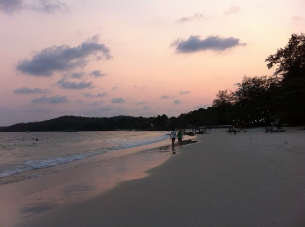 Ko Samet beach after sunset