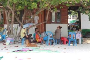 Locals on Ao Nuan beach, Ko Samet