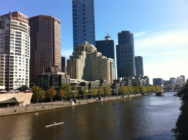 Melbourne CBD seen from Southbank