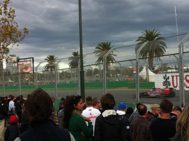 Watching the Australian Grand Prix