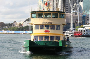 Sydney walking itinerary: ferry arriving at wharf