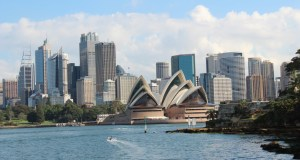 Sydney Opera House seen from a Sydney Ferry