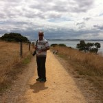 Walking around Churchill Island