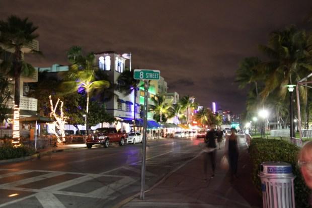Ocean Drive evening, Miami
