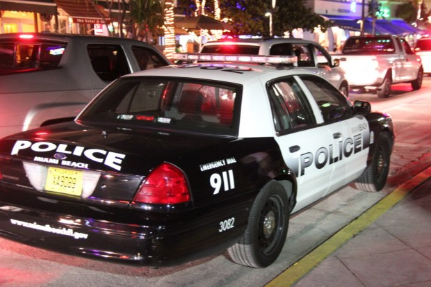 Miami Beach Police on Ocean Drive