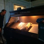 Looking at the Gutenberg Bible, Congress Library, Washington DC