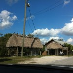 A chickee, Miccosukee settlement, the Everglades