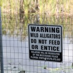 A warning, Everglades National Park, Florida