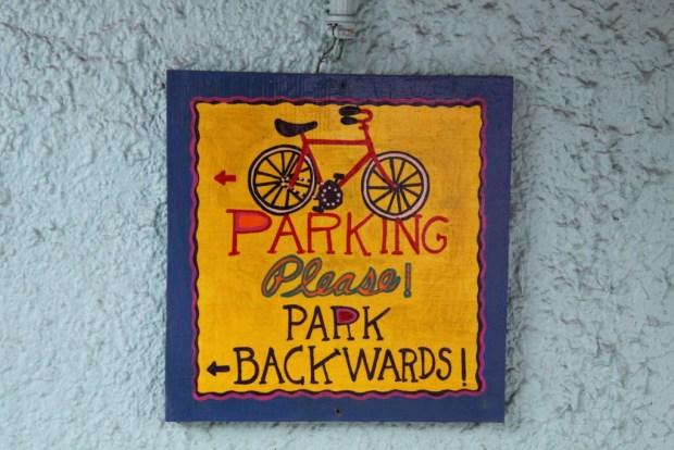 A parking sign, Key West