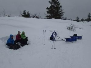 Lunch break in Lapland