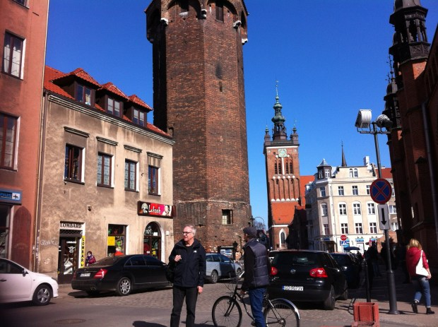 Gdansk Old Town and a tower