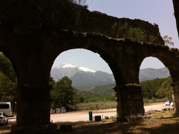 Aqueduct and Olympos Mountain, Phaselis