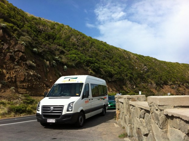 Great Ocean Road with a campervan