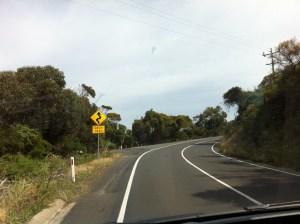 Driving on Great Ocean Road