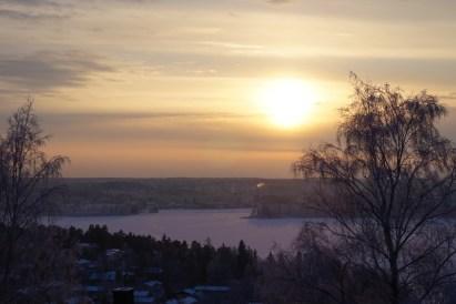 Lake Pyhäjärvi sunset from Pispala, Tampere