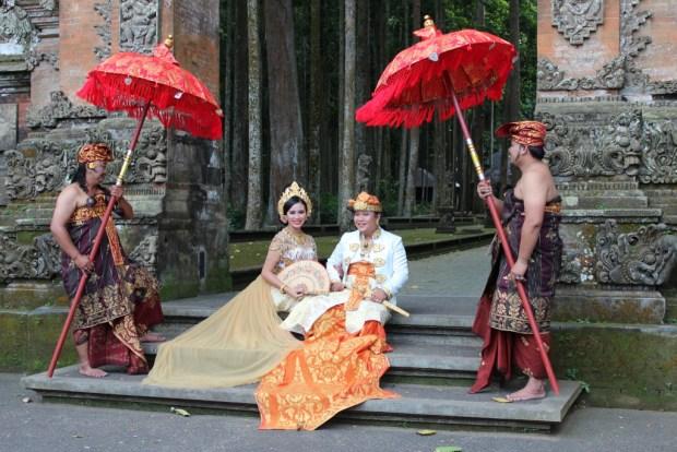 Wedding in Sangeh Monkey Forest, Bali