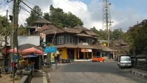 Drive in Central Bali, village at Mt. Batur