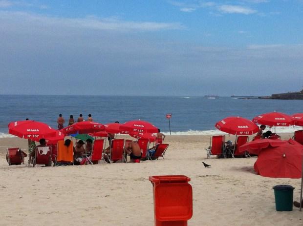 Spending time at Copacabana, Rio de Janeiro
