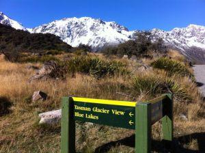 Blue Lakes and Tasman Glacier View Track