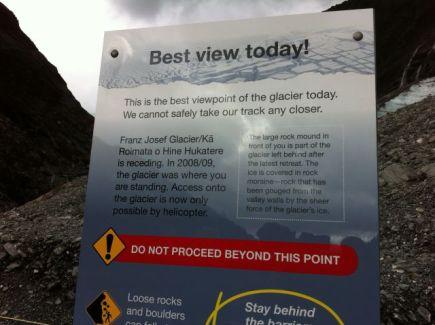 Franz Josef Glacier glacier warning